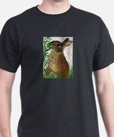 Among the Grass Black T-Shirt