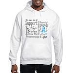 Prostate Cancer Words Hooded Sweatshirt