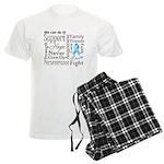 Prostate Cancer Words Men's Light Pajamas