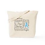 Prostate Cancer Words Tote Bag