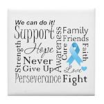 Prostate Cancer Words Tile Coaster