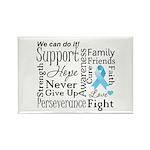 Prostate Cancer Words Rectangle Magnet