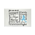 Prostate Cancer Words Rectangle Magnet (10 pack)
