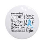 Prostate Cancer Words Ornament (Round)