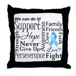 Prostate Cancer Words Throw Pillow