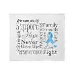 Prostate Cancer Words Throw Blanket