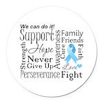 Prostate Cancer Words Round Car Magnet