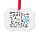 Prostate Cancer Words Picture Ornament