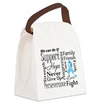 Prostate Cancer Words Canvas Lunch Bag