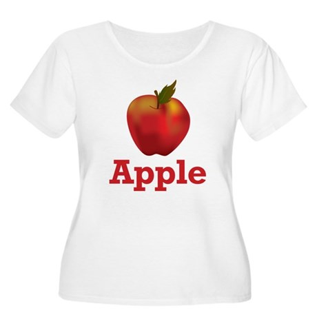Apple Women's Plus Size Scoop Neck T-Shirt