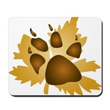 Pawprint On Leaf Mousepad