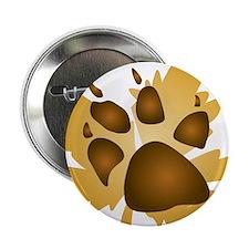 "Pawprint On Leaf 2.25"" Button"