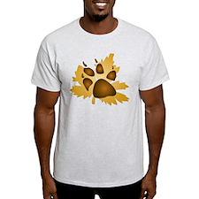 Pawprint On Leaf T-Shirt