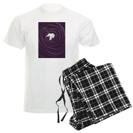magical white owl Men's Light Pajamas