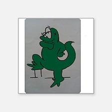 "El lagartijo verde Square Sticker 3"" x 3"""