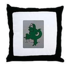 El lagartijo verde Throw Pillow