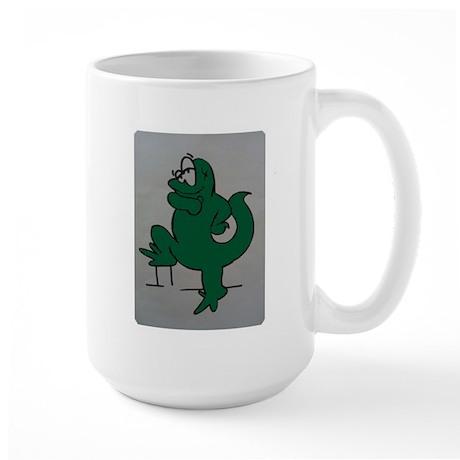El lagartijo verde Large Mug