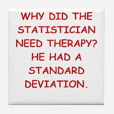 statistics Tile Coaster
