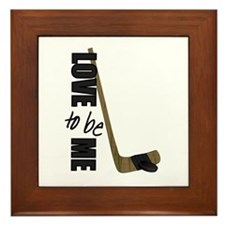 HOCKEY - LOVE TO BE ME Framed Tile