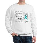 Ovarian Cancer Words Sweatshirt