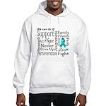 Ovarian Cancer Words Hooded Sweatshirt