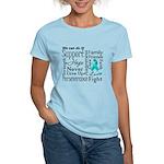 Ovarian Cancer Words Women's Light T-Shirt