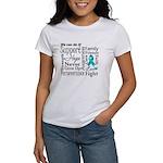 Ovarian Cancer Words Women's T-Shirt