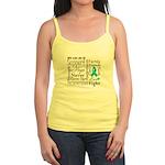Ovarian Cancer Words Jr. Spaghetti Tank