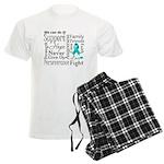 Ovarian Cancer Words Men's Light Pajamas