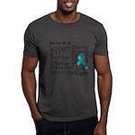 Ovarian Cancer Words Dark T-Shirt