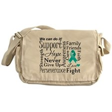 Ovarian Cancer Words Messenger Bag