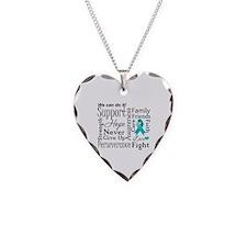Ovarian Cancer Words Necklace