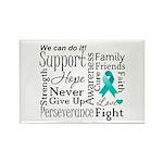 Ovarian Cancer Words Rectangle Magnet