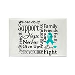 Ovarian Cancer Words Rectangle Magnet (10 pack)