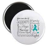 Ovarian Cancer Words Magnet