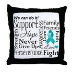 Ovarian Cancer Words Throw Pillow