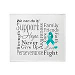 Ovarian Cancer Words Throw Blanket