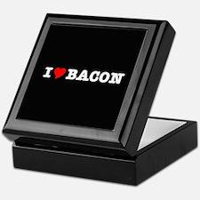 Bacon I Love Heart Keepsake Box