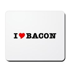 Bacon I Love Heart Mousepad