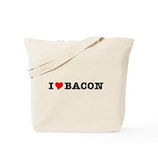 Bacon I Love Heart Tote Bag