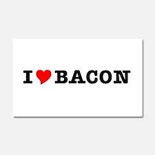Bacon I Love Heart Car Magnet 20 x 12