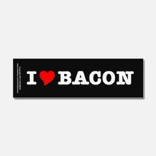 Bacon I Love Heart Car Magnet 10 x 3