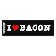Bacon I Love Heart Bumper Bumper Sticker