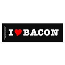 Bacon I Love Heart Stickers