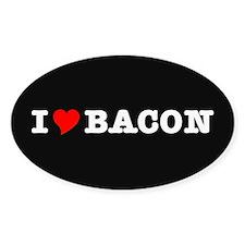 Bacon I Love Heart Decal