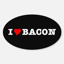 Bacon I Love Heart Decal