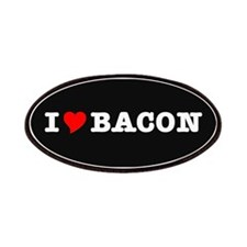 Bacon I Love Heart Patches