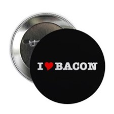 """Bacon I Love Heart 2.25"""" Button (10 pack)"""