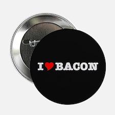 """Bacon I Love Heart 2.25"""" Button"""