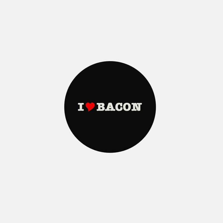 Bacon I Love Heart Mini Button